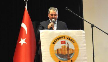 Bayburt Vakfı Başkanı İsrafil Kahraman