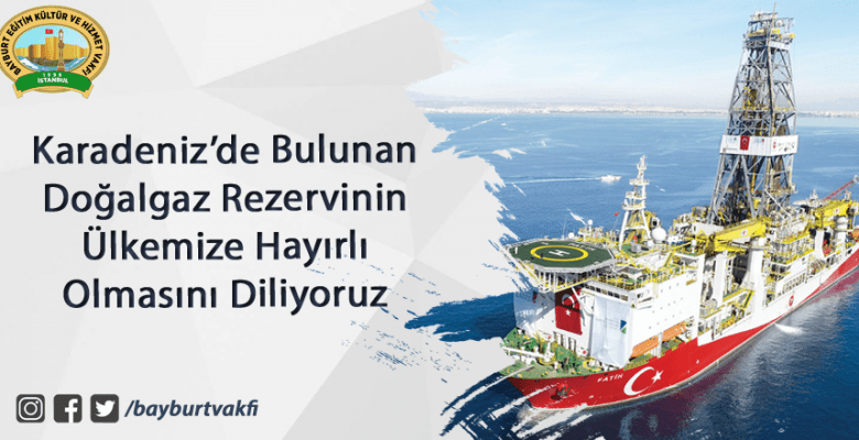 Karadeniz'de Bulunan Doğalgaz Rezervinin Ülkemize Hayırlı Olmasını Diliyoruz