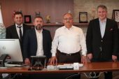 Bayburt Eğitim ve Kültür Hizmet Vakfı Yönetimi'nden Başkan Hasan Can'a Ziyaret